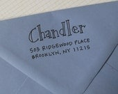 Chandler Address Stamp (Red Rubber on Wood Block)