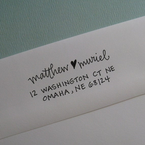 Muriel Address Stamp (Polymer with Wood Handle)