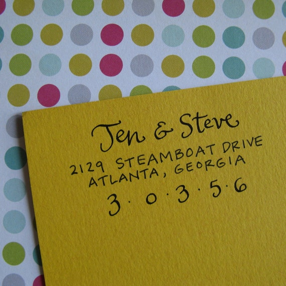 Jen Address Stamp (Self-inking)