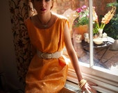Tangerine dream shift dress // size large