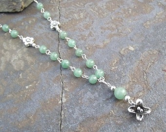 The Faerie's Dance Necklace -  Dancing in the Grass