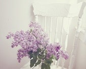 Still Life Photography - Purple Lilac Still Life Photo White Purple Flower Print Mothers Day Art Romantic Home Decor Spring Photograph