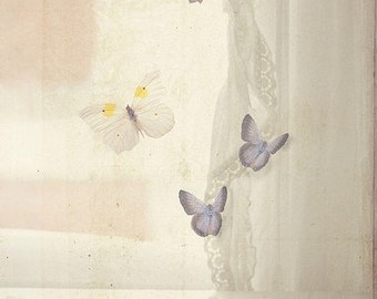 Nature Photography - Surreal Butterflies Print Dreamy Magical Fantasy Butterfly Nursery Decor Romantic Art Feminine Home Girls Room