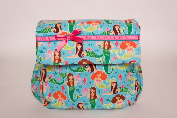 Sea Beauties Mermaids Messenger style  Diaper bag