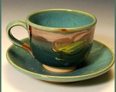 Cup and Saucer, Sea Green