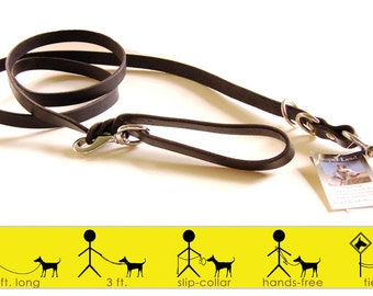 Super Lead -- a six foot leash with options -- BLACK or TAN