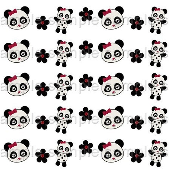 M2MG Panda Print Your Own Ribbon Graphics Holiday 7/8 Inch