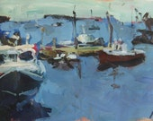 Maine seascape painting. Affordable and colorful paintings by Robert Joyner.
