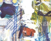 Modern Abstract Cow Painting.