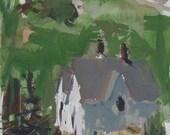 Original Monhegan Island Landscape Sketch