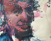 Abstract Representational Painting Of Abraham Lincoln