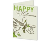 Triceratops Halloween Small Card