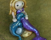 Purple Mermaid and Seadragon