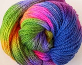 Hand Dyed Worsted Wool Yarn - Spring  Bloom