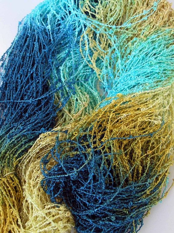 Hand Dyed Rayon Boucle Yarn - Sunny Day