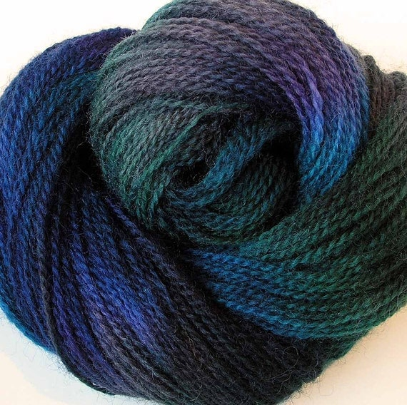 Hand Dyed Wool Yarn-  Forest Canopy