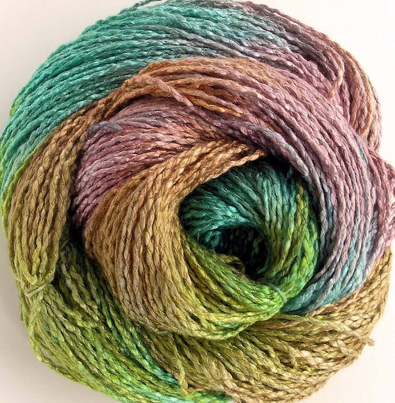 Hand Dyed Rayon Yarn - Summer Afternoon