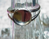 Bella - Double Y ring blank in .925 sterling silver with 10mm bezel cup - HANDMADE ring base - custom size