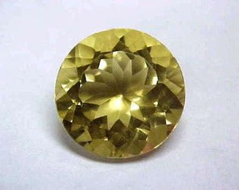 Pair of two Well cut natural golden yellow citrine .25 ct 4mm round hand faceted VVS to IF - Africa relief WFA