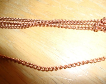 Raw Brass or Copper curb chain - easy to use - 5 feet - vintage