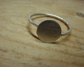 50 Adjustable ring blank with 3/8 inch glue pad - .925 sterling silver - large or small - strong -fav - handmade eco friendly