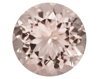 Morganite faceted stone 3mm 4 mm 5mm - very nice quality pale pink beryl - emerald, kunzite gemstone one piece