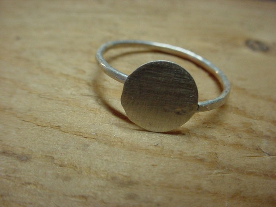 Adjustable ring blank with 3\/8 inch glue pad - .925 sterling silver - large or small - strong -fav - handmade