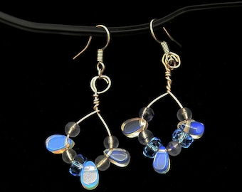 Opalescent Blue earrings