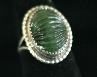 Carved Jade ring 22