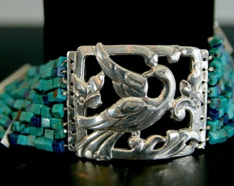 Dove and Turquoise Bracelet