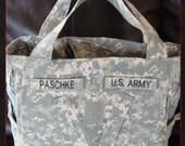 Ex-Large Lia ACU Military Army Purse Diaper Bag Custom Embroidery included