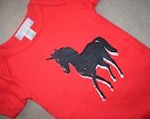 SALE organic ponycorn onesie, 6-12m, short sleeve SALE