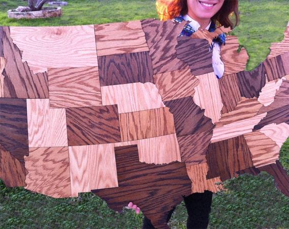 Us Jigsaw Map Wood Wondertoys Pieces Wooden Usa Map Puzzle - Us jigsaw map wood