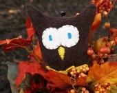 Cuddly Brown Glove Owl