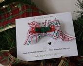 RESERVED FOR TSCRAPPER -- Ho Ho Ho Christmas Bow