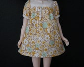 Yellow Vintage Floral Baby Doll Dress