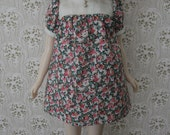 Pink and Green Pepper Baby Doll Dress