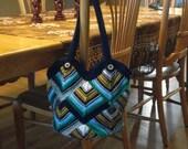 RESERVED FOR Anna Vou Mitered square knit bag