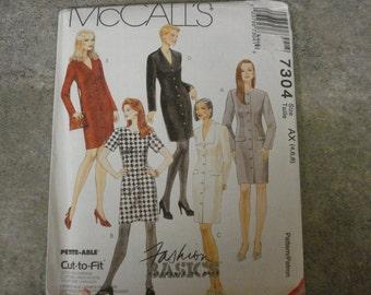 Vintage McCall's 7304 misses' dress pattern- 1994