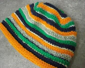 Striped children's scrap hat