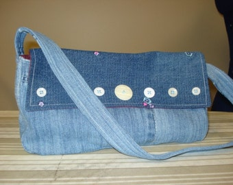 Recycled blue demim purse