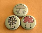 Mushrooms Button Set