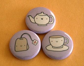Tea Button Set