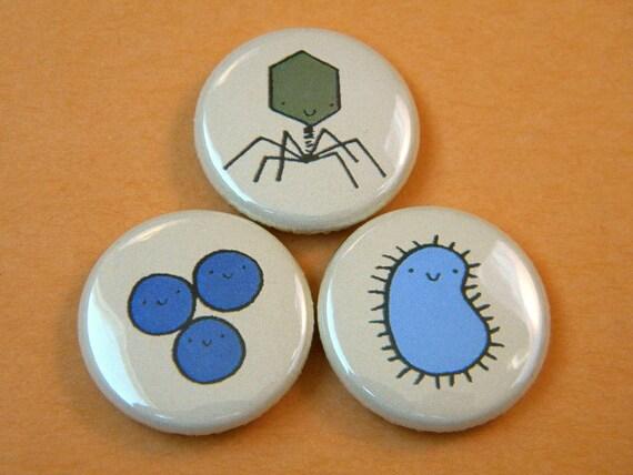 Microbe Button Set