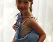 Light Blue Pouch Sling for Dolls or Teddies suitable for children from 1-8yo