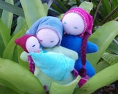 4 Piece Doll Set - 2 Mums and a newborn
