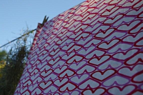 Love Me Jumbo Swaddling Wrap - Heart Print Cotton