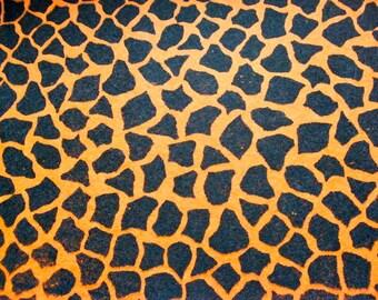 Crackled Black and Orange Felt Sheet