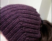 Knit Winter Hat for Women with Long Hair