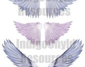 Angel Wings Digital Collage Sheet JPG